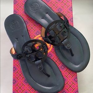 Pre-owned Leather Miller Sandals